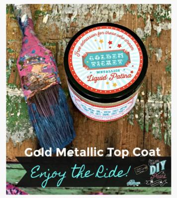 DIY Paint Golden Ticket Gold Liquid Patina