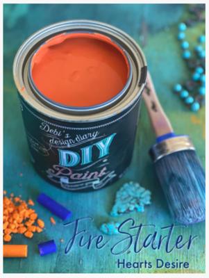 DIY Paint Fire Starter (bright orange)