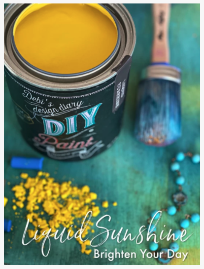 DIY Paint Liquid Sunshine (bright yellow)