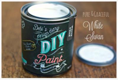 DIY Paint White Swan