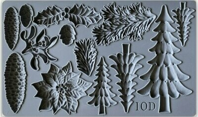 BOUGHS OF HOLLY 6×10 DECOR MOULD