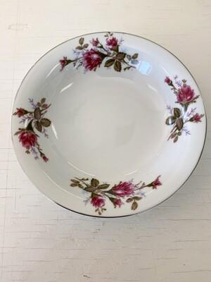 Rose Pattern China Bowl by SANKYO (JAPAN)