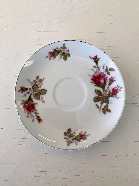 Rose Pattern China Saucer by SANKYO (JAPAN)