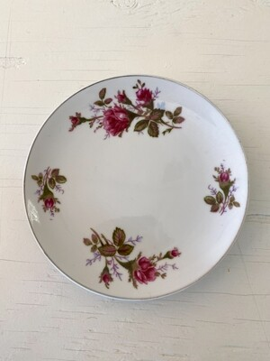 Vintage Rose Pattern China Small Plate by SANKYO (JAPAN)