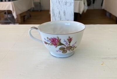 Vintage Rose Pattern China Tea Cup by SANKYO (JAPAN)