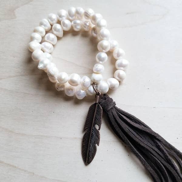 Double Strand Genuine Pearl Bracelet