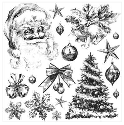 IOD HOLLY JOLLY 12×12 STAMP
