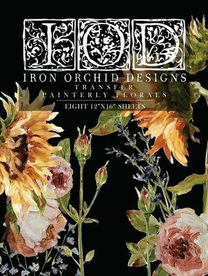 IOD Painterly Florals Transfer 12