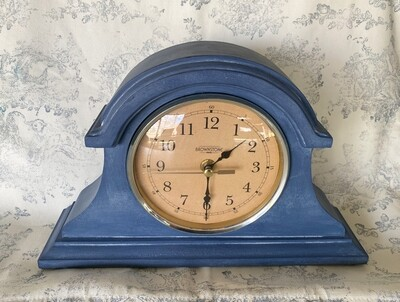 Refurbished Brownstone Wood Mantle Clock