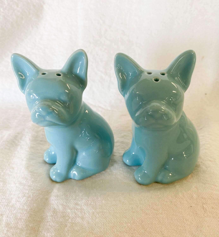 Threshold French Bulldog Teal Stoneware Salt & Pepper Shaker Set