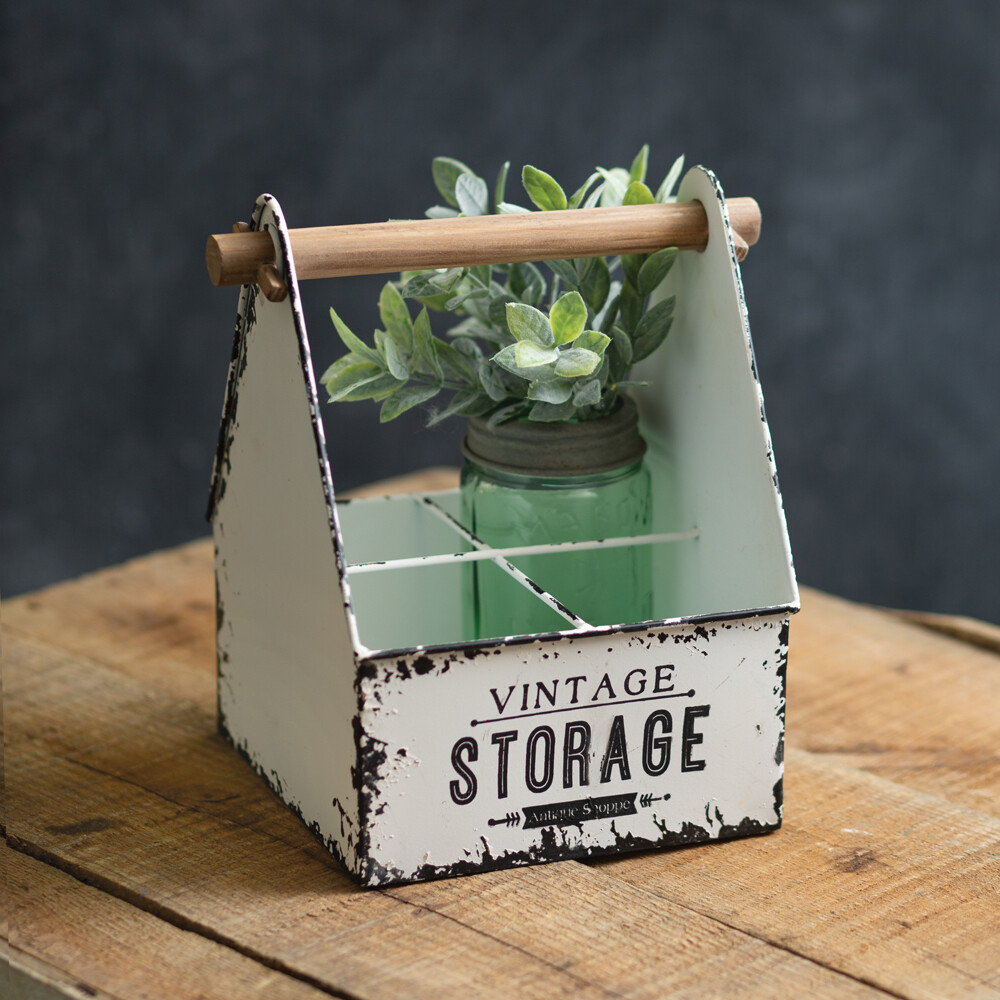Vintage Inspired Storage Divided Caddy