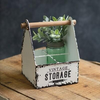 Vintage Inspired Storage Divided Caddy