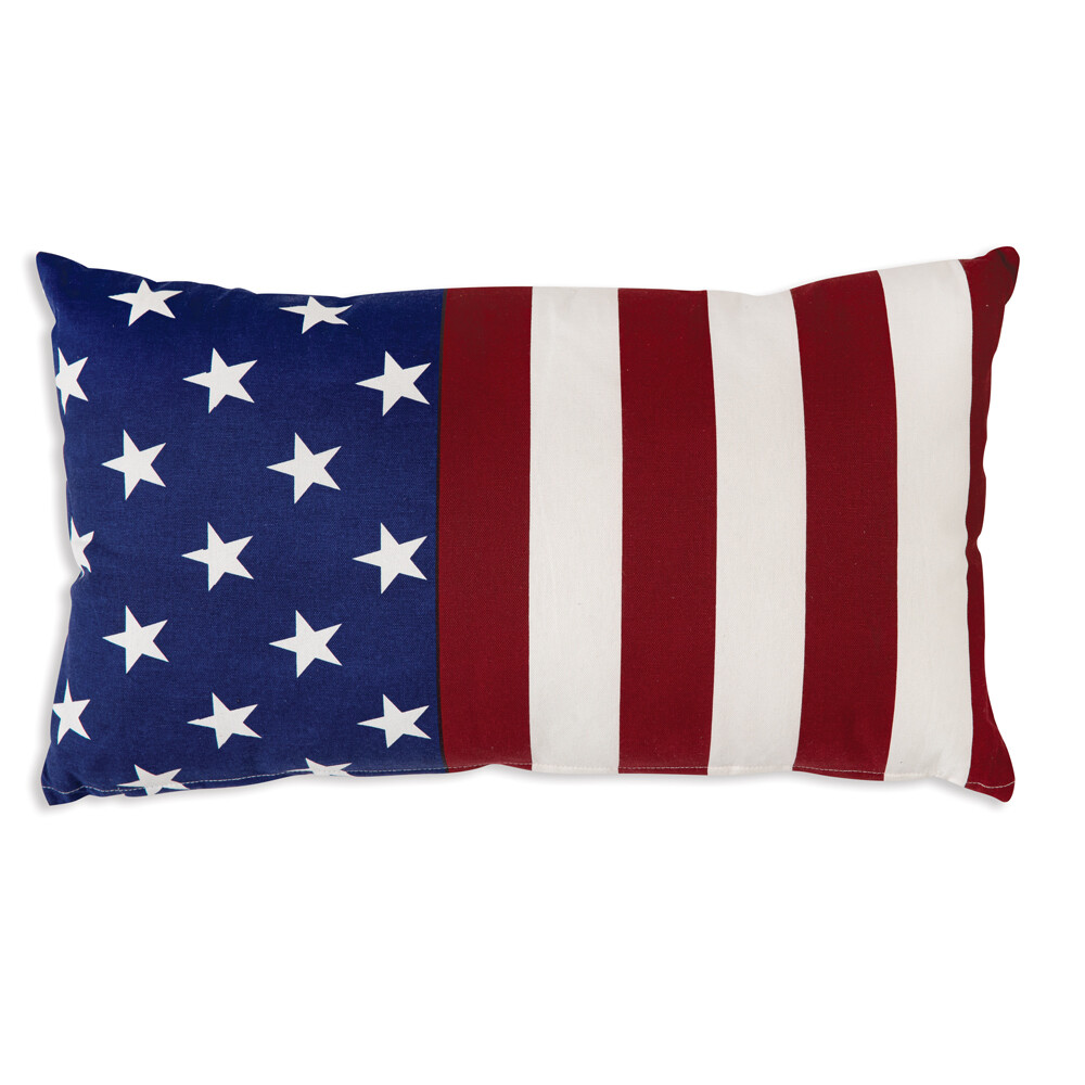 Flag Cotton Throw Pillow 14'' x 24''