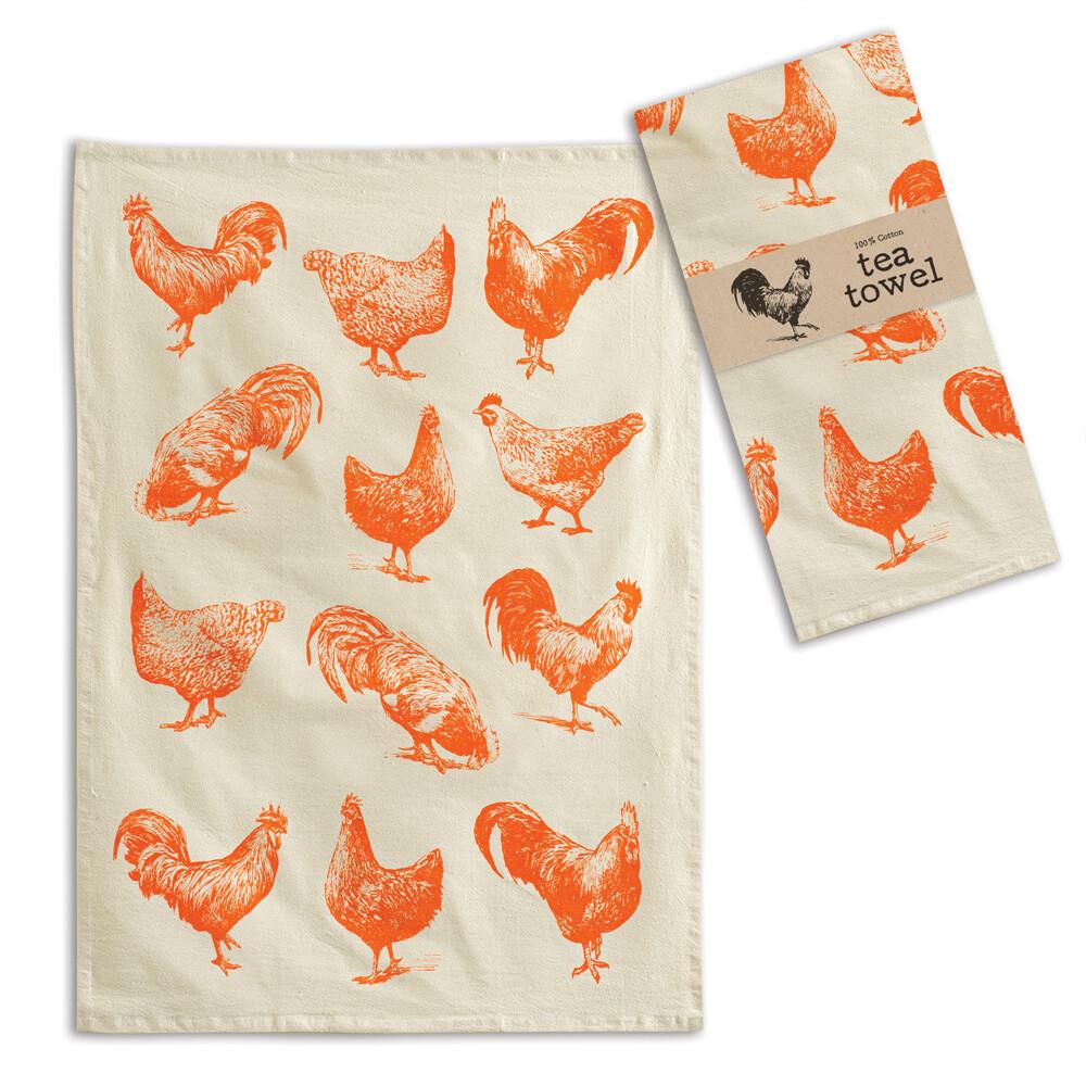 Roosters Tea Towel 20'' x 28''