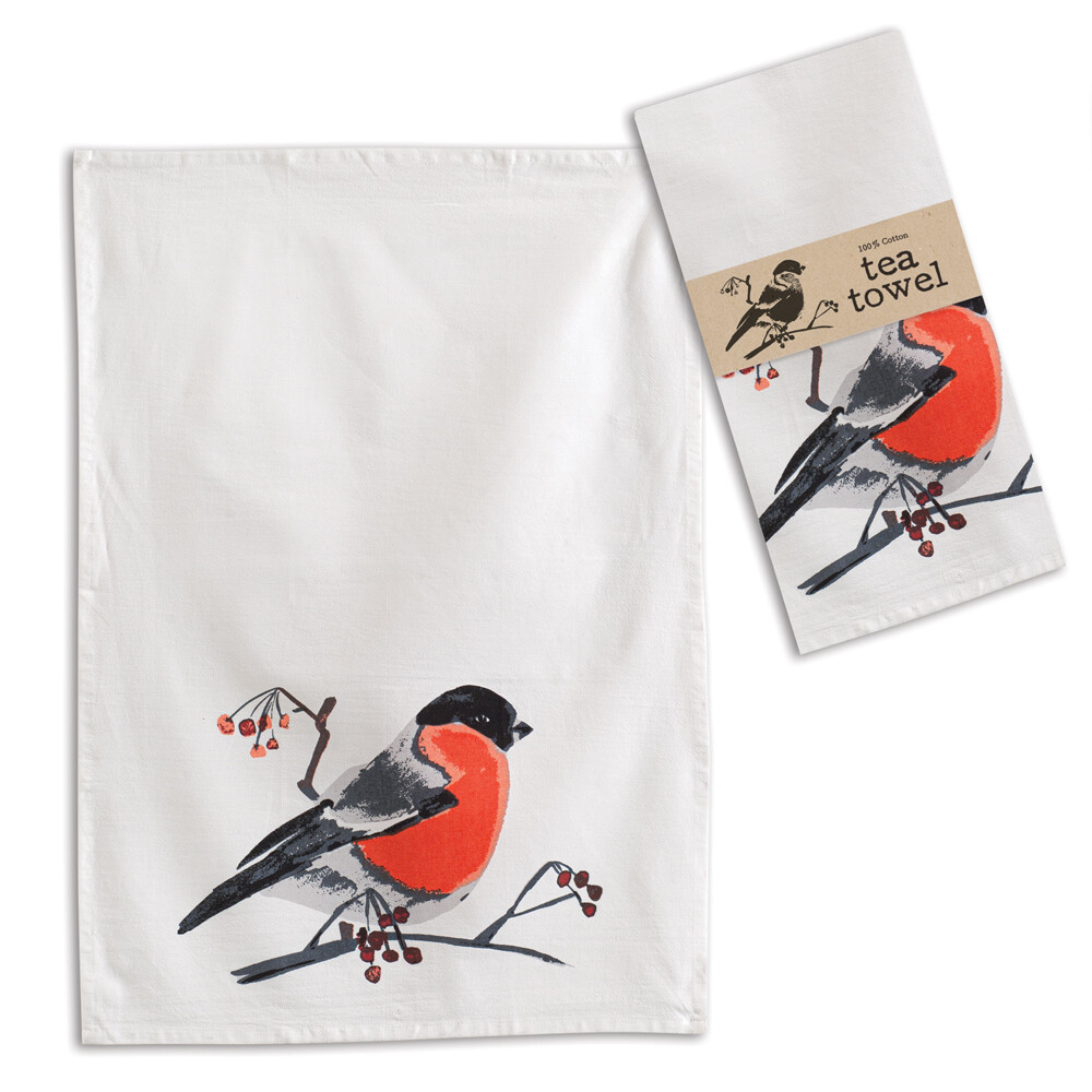 """Bird & Berries Tea Towel 20"""" x 28"""""""