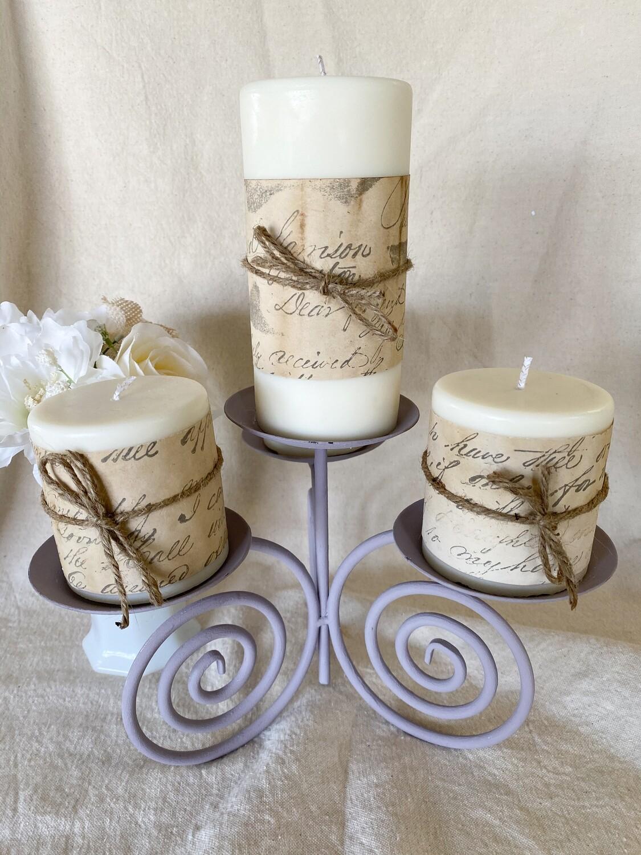 Cashmere Plum Soy Pillar Candles