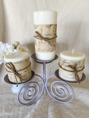 Cashmere Plum Soy Pillar Candles