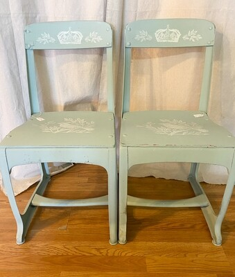Vintage School Desk Chairs