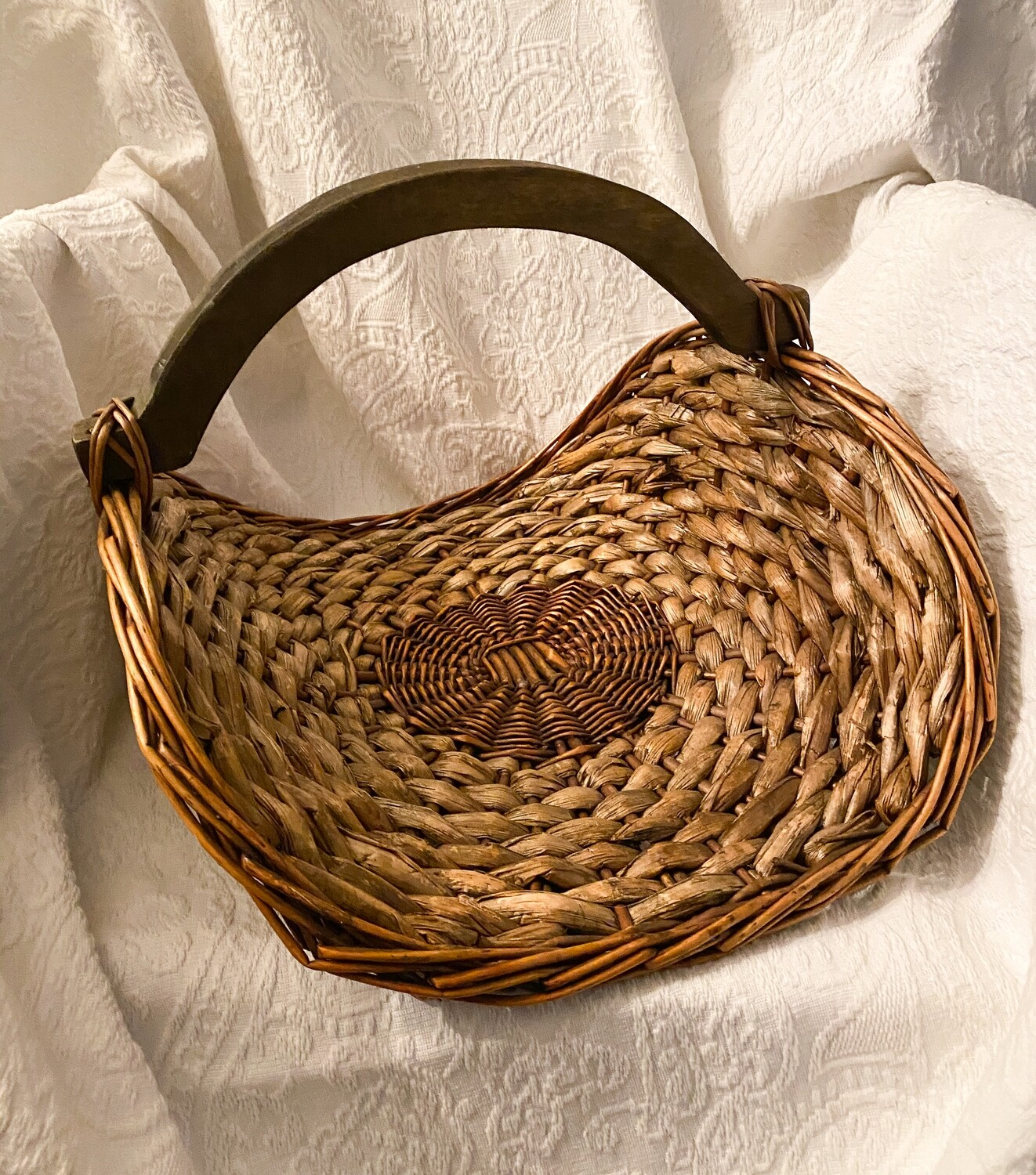 Wood Handled Gathering Basket