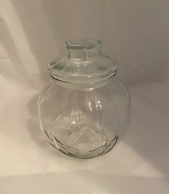 Jack-O-Lantern Glass Storage Jar