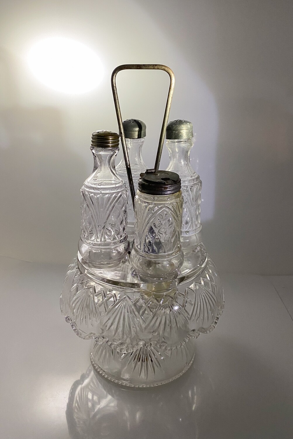 Glass Condiment Set