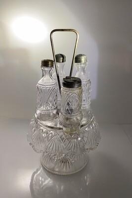 Glass Condiment Set