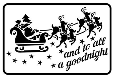 JRV Santa's Sleigh Stencil