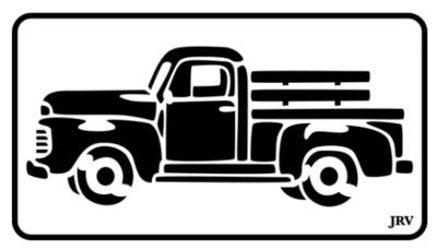 JRV Vintage Truck Stencil