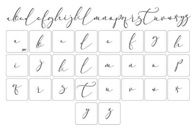 JRV Script Font Stencil