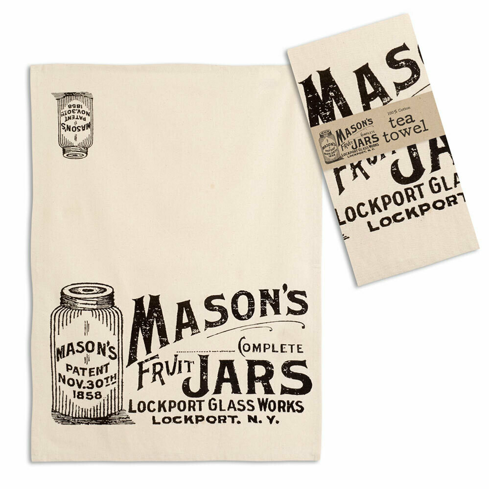 Mason Jars Tea Towel 20''x28''