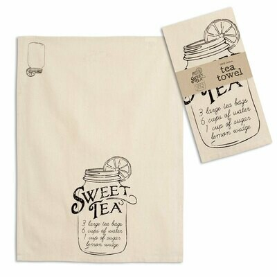 Sweet Tea Recipe Tea Towel 20''x28''