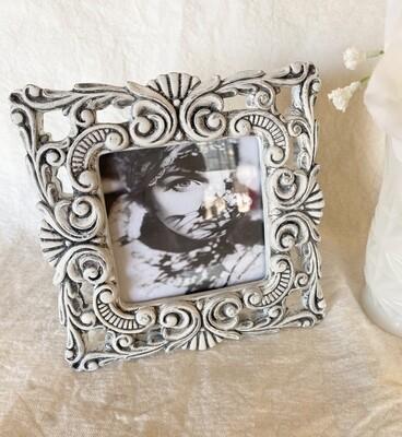 Antiqued White 4x4 Frame