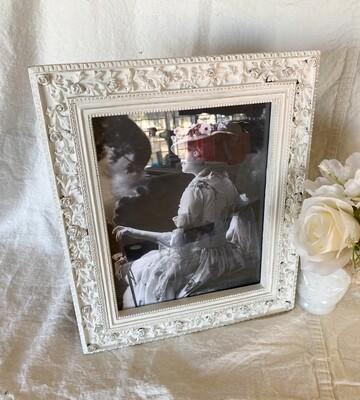 White Distressed 8x10 Frame