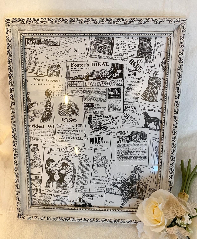 White Antiqued 11x14 Frame