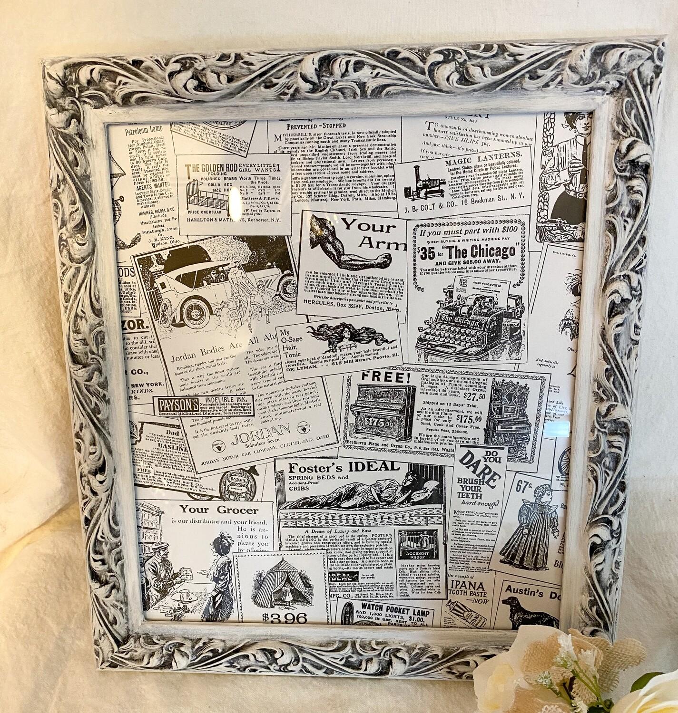 White Antiqued 11.5x13 Frame
