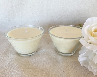 Natural Soy Wax Clear Glass Container Candles 6oz