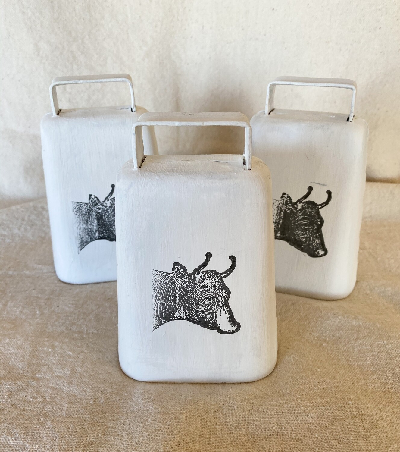White Metal Cow Bell