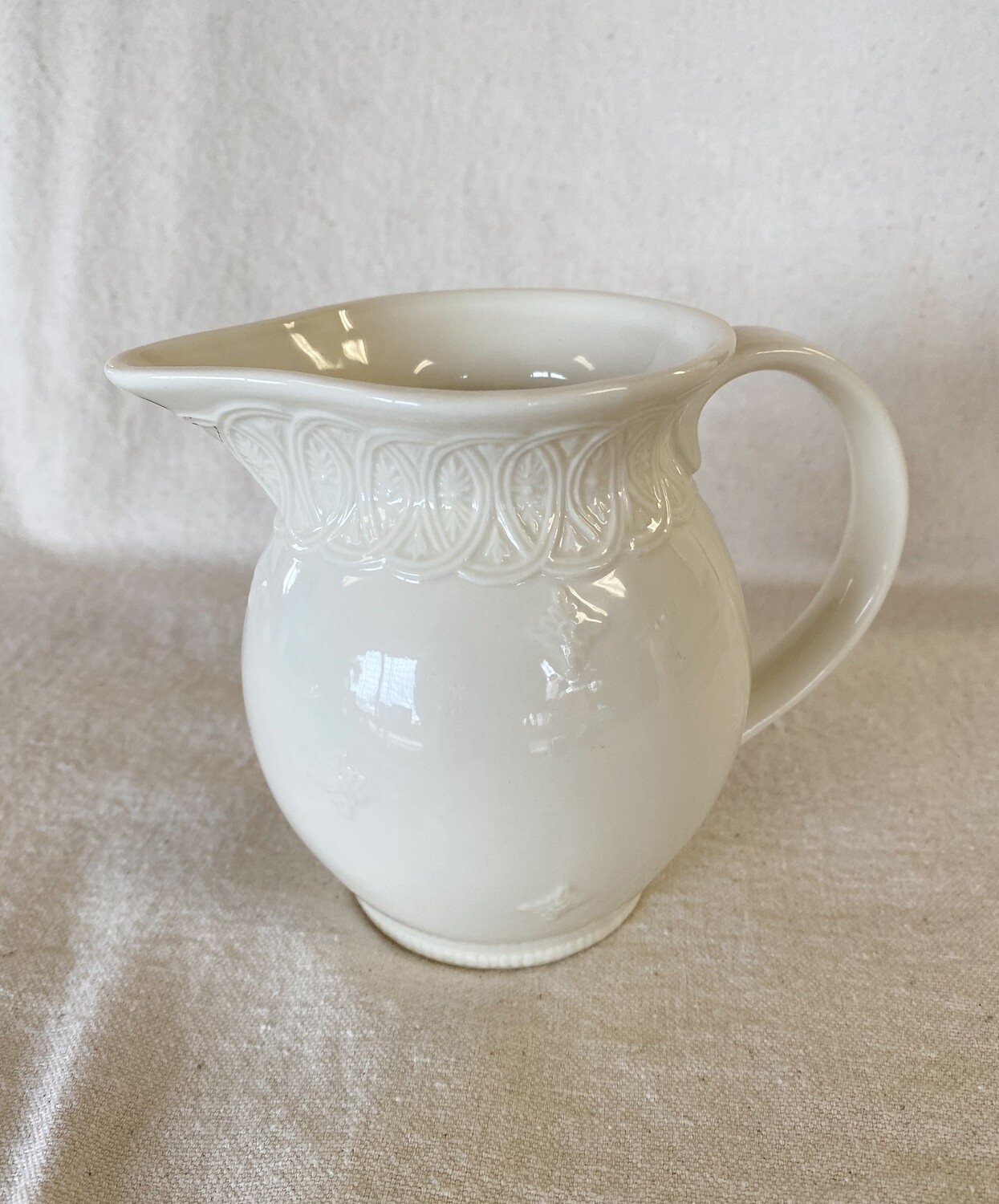 Two's Company Creamware Pitcher