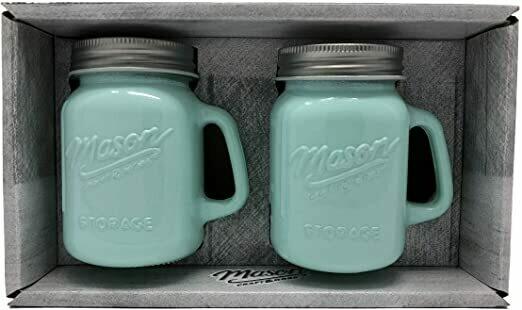 Green Mason Jar Salt & Pepper Shaker Set