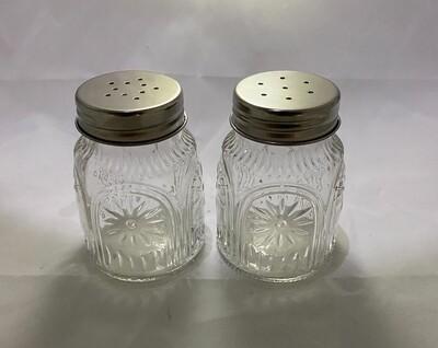 The Pioneer Woman Adeline Clear Pressed Glass Salt & Pepper Shaker Set