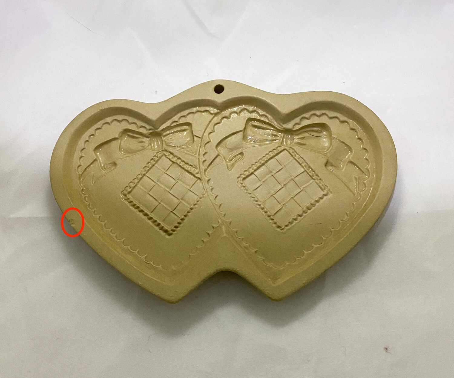 Brown Bag Cookie Art Double Heart Shortbread Cookie Mold