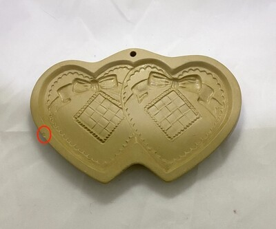 Brown Bag Cookie Art Double Heart Shortbread Cookie Mold