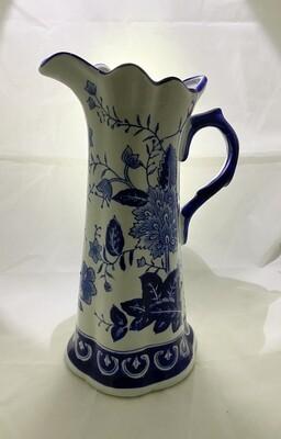 Blue & White Ceramic Pitcher