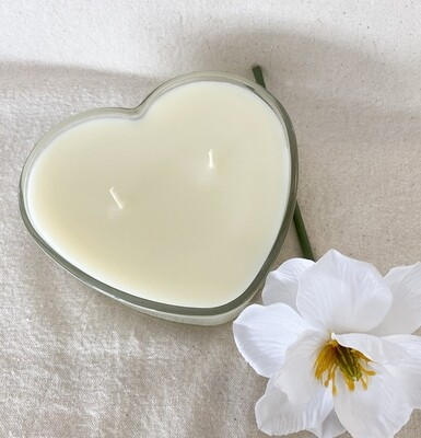 Love Spell Glass Heart Soy Candle