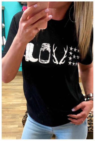 LOVE Western Graphic T-Shirt