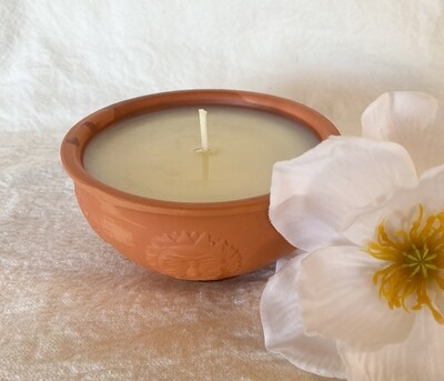 Blood Orange Terracotta Bowl Soy Candle
