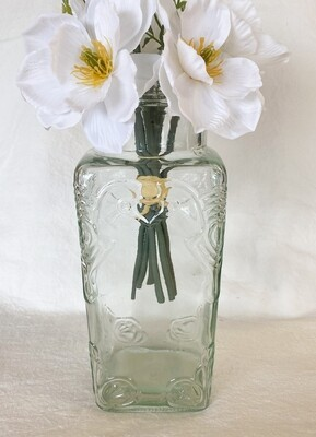 Embossed Glass Jar / Vase
