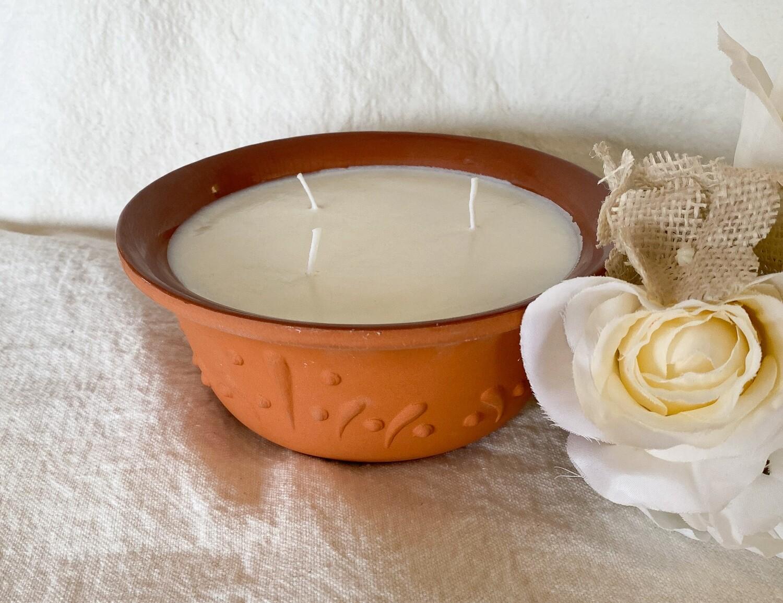 White Sage & Lavender Terracotta Bowl Soy Candle 18oz