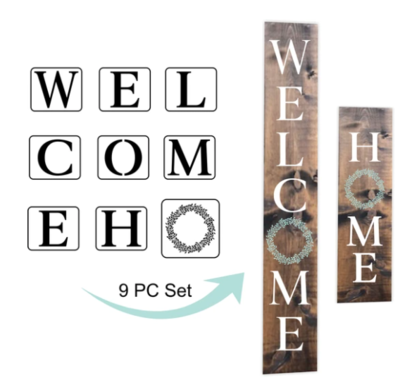 JRV Welcome and Home Stencils