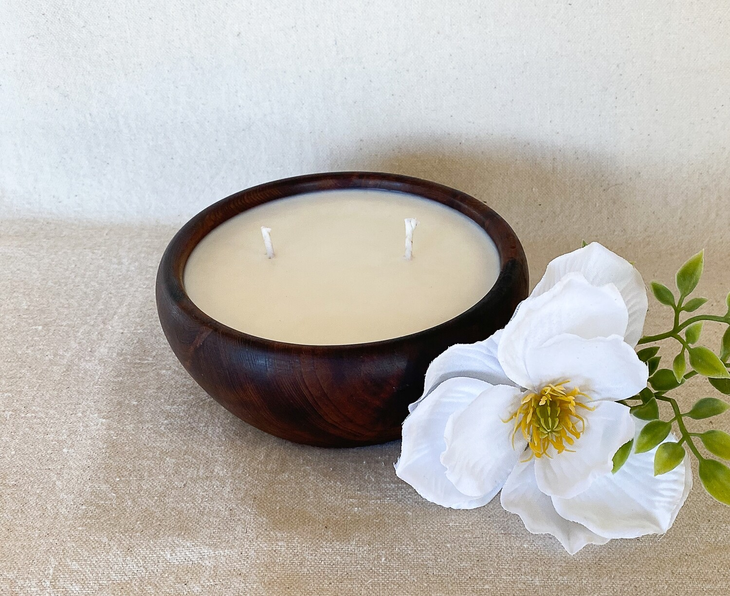 Cashmere Plum Redwood Bowl Soy Candle
